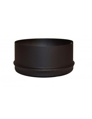 Tampon plein concentrique pellets noir mat