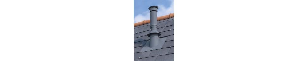Sortie de toit cylindrique concentrique pellets